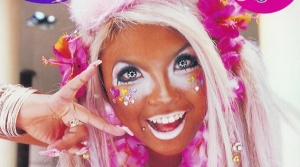 Ganguro girl-bright orange